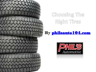 Choosing The Right Tires