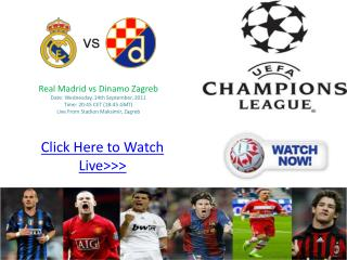 real madrid vs dinamo zagreb live champions league 2011-12 4