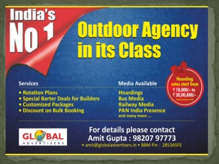 Special Offers for Out of Home Publicity in Mumbai - Global