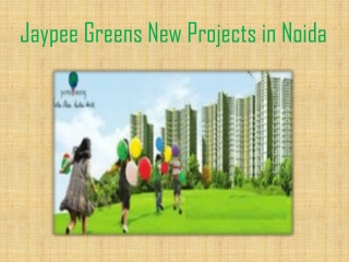 Resale at Jaypee Greens New Projects in Noida