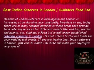 Best Indian Caterers in London – Make Your Day Very Special