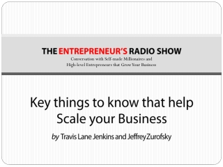 Key things to know that help scale your business