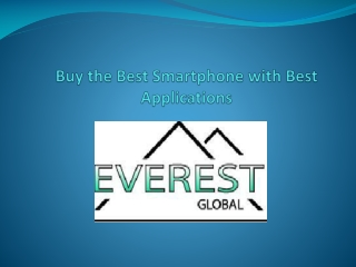 Buy the Best android Smartphone