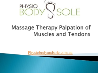 Massage Therapy-Palpation of Muscles and Tendons