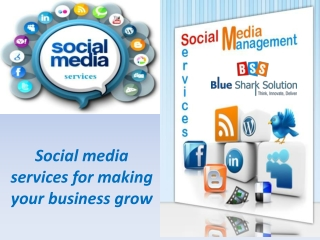 Social media services for making your business grow: