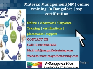 Material Management(MM) online training  In Bangalore % sap