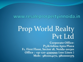 Resale Property in Noida, Resale Flats in Noida