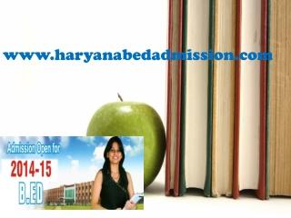 Haryana B.Ed Counseling Process