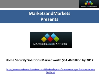 Home Security Solutions Market - Global Forecast