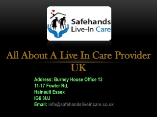 All About a Live in Care Provider UK