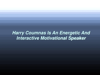 Harry Coumnas Is An Energetic And Interactive Motivational S