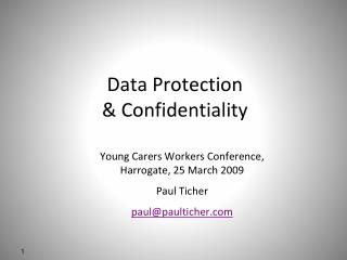 Data Protection & Confidentiality