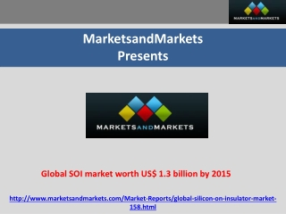 Global SOI market expected to reach US$ 1.3 billion by 2015