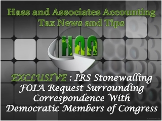 Hass and Associates Accounting Tax News and Tips: IRS Stonew
