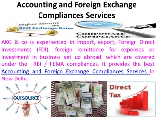 Accounting and Foreign Exchange Compliances Services