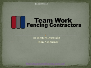 Western Australia's Best Fencing Company