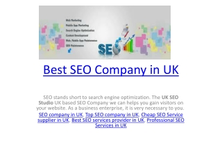 Best SEO Company in UK