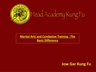 Martial Arts and Combative Training - The Basic Difference