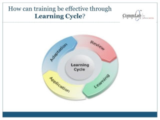 Effective Corporate Training through a Learning Cycle!