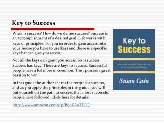 Key to Success: How to be Successful, Follow the Road to Suc