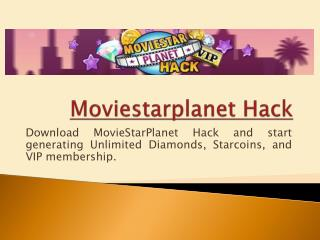 Moviestarplanet Hack Tool