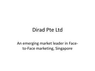 Dirad Pte Ltd - Sales Group