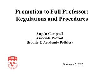 Promotion to Full Professor: Regulations and Procedures