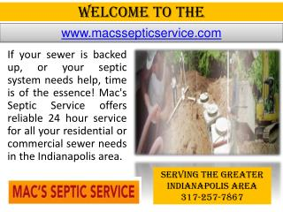 Sewer Company In Indianapolis - Grease Trap Cleaning - Septi