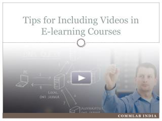 Tips for Using Videos in E-learning