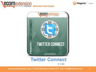 Magento Twitter Connect Extension - Easiest way to share on