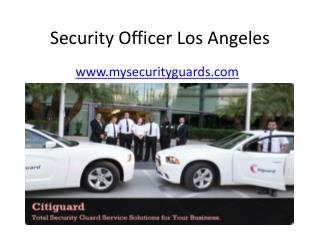 Security Guards Los Angeles