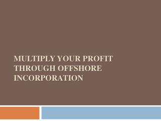 Multiply your Profit through Offshore Incorporation