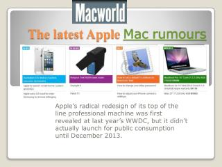 Mac rumours, Macworld iPad at work