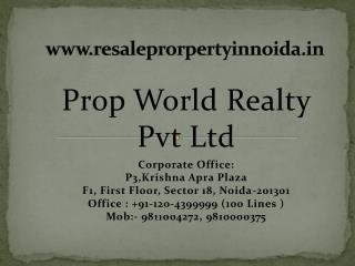 Residential Property in Noida, Resale Flats in Noida