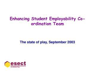 enhancing student employability co-ordination team