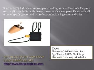 Spy Bluetooth Gadgets In India