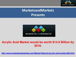 Acrylic Acid Market Expected to reach worth $14.0 Billion by
