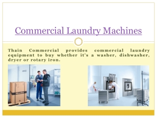 Commercial Laundry Machines Scotland