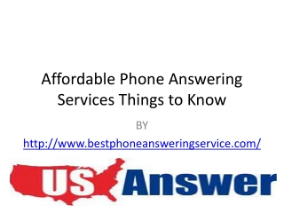 Affordable Phone Answering Services: Things to Know