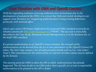 Trust Elevation with UMA and OpenID Connect