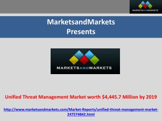 Unified Threat Management Market worth $4,445.7 Million by 2