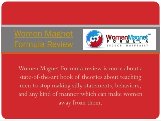 Dennis Penna women Magnet Formula Review