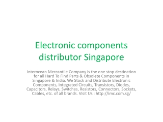 Integrated circuits Singapore