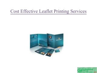 Cost Effective Leaflet Printing Services
