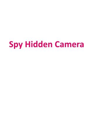 Spy Hidden Camera