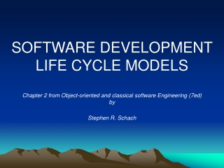 software life-cycle models schach chap2