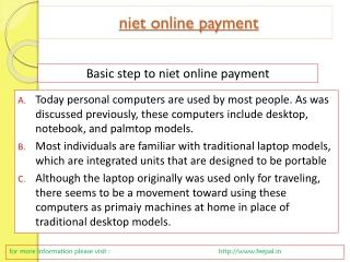 niet online payment
