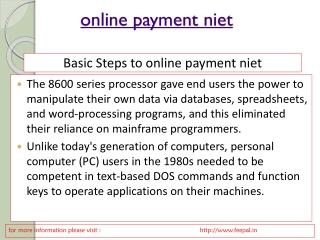 online payment niet
