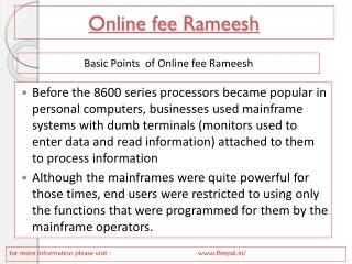 Online fee Rameesh