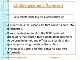 Online payment Rameesh